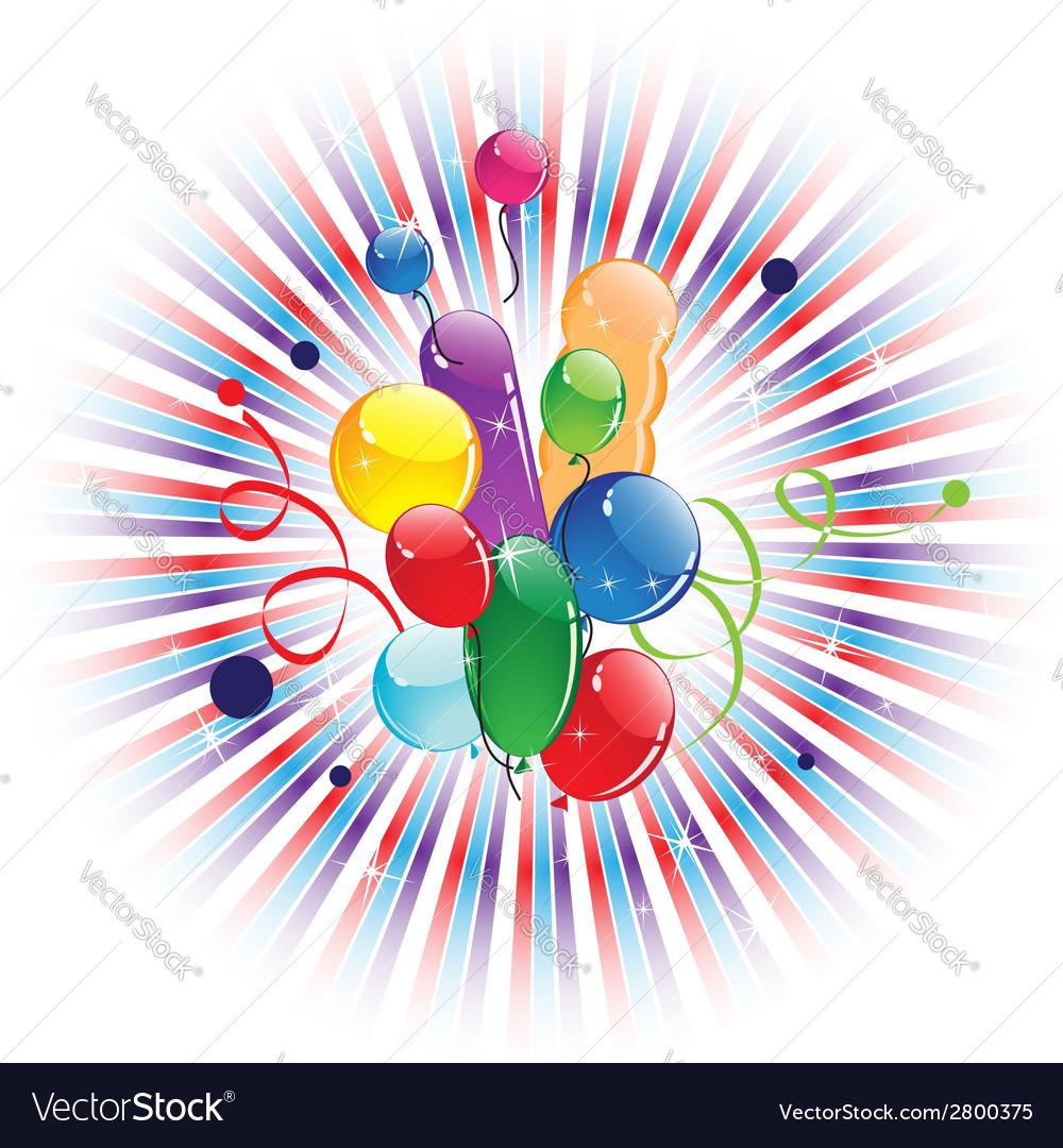Bright balloons vector