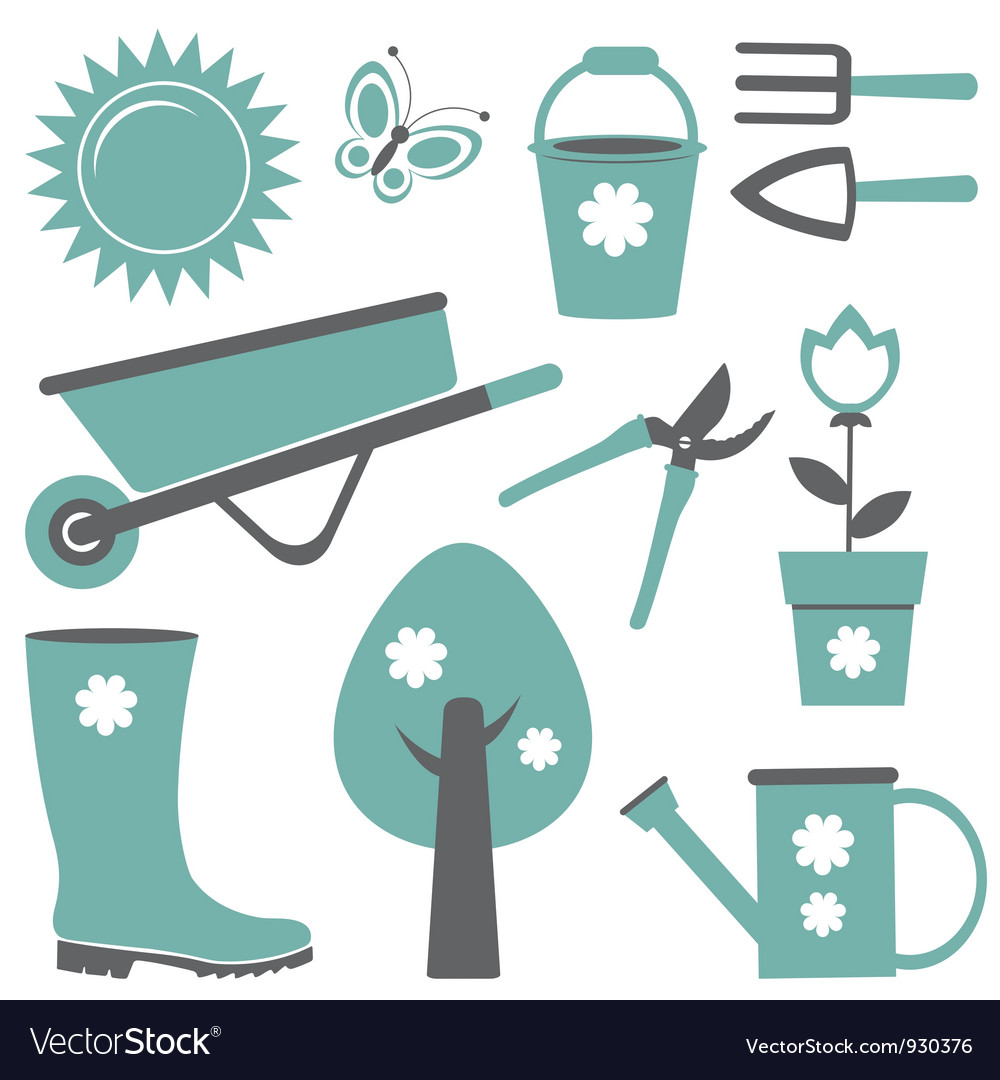 Garden set vector