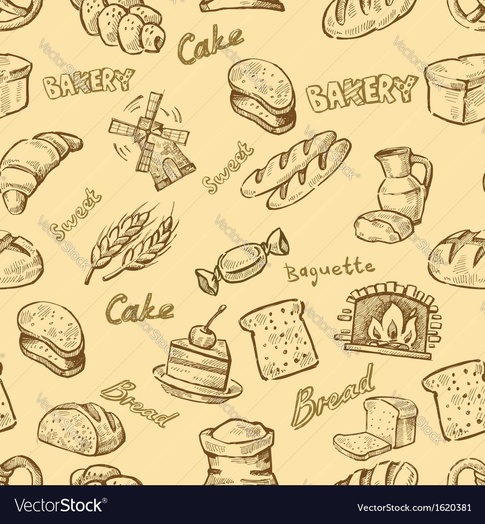 Hand drawn bakery vector
