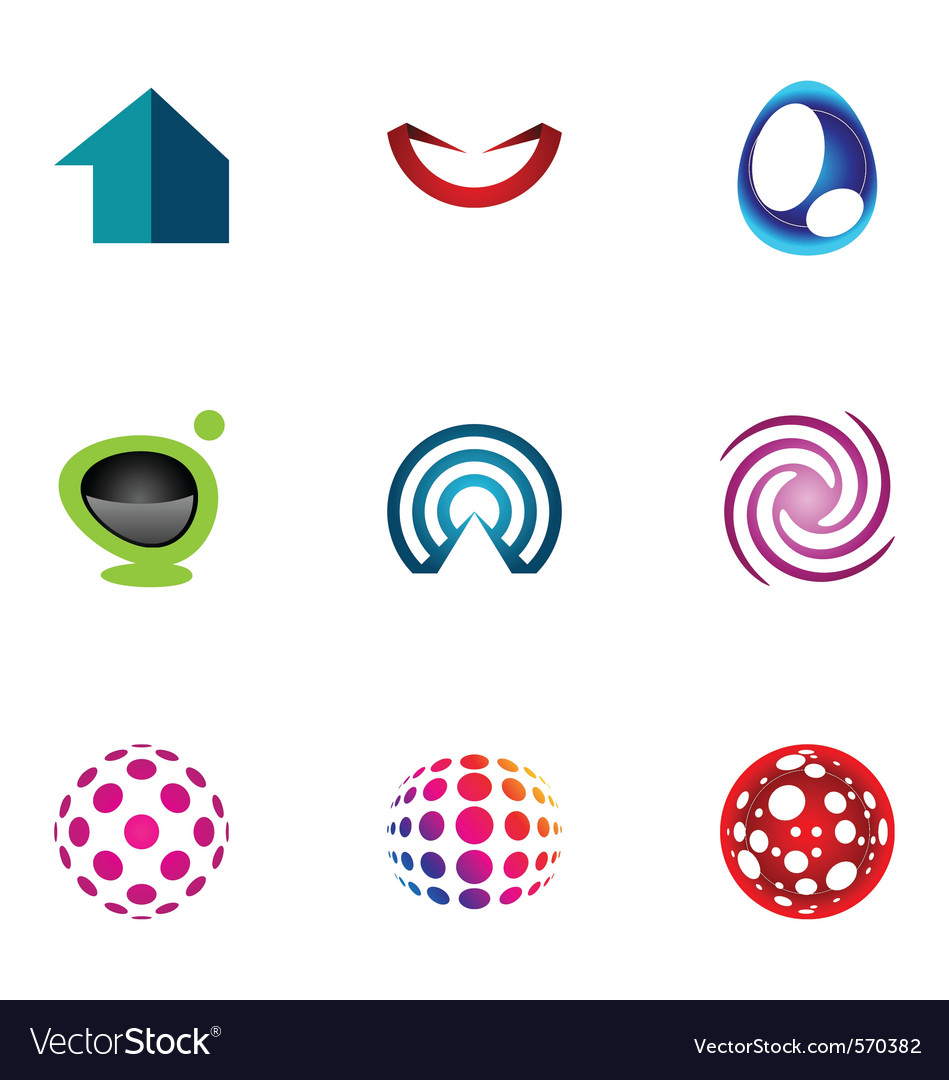 Logo design elements set 49 vector