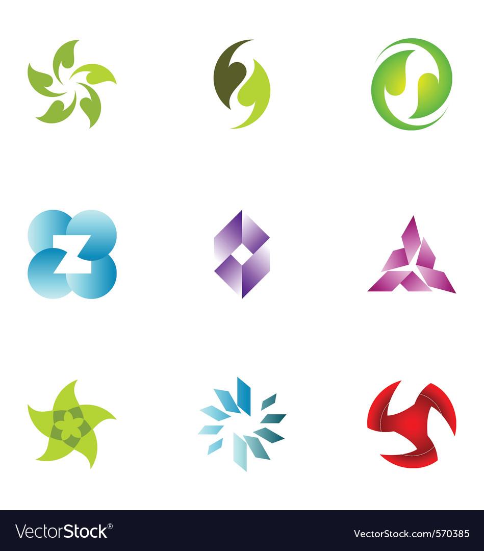 Logo design elements set 50 vector