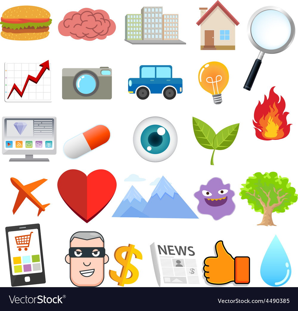 Object design cartoon vector