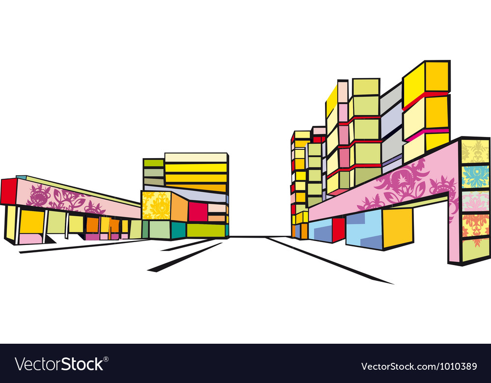 Colorful street vector