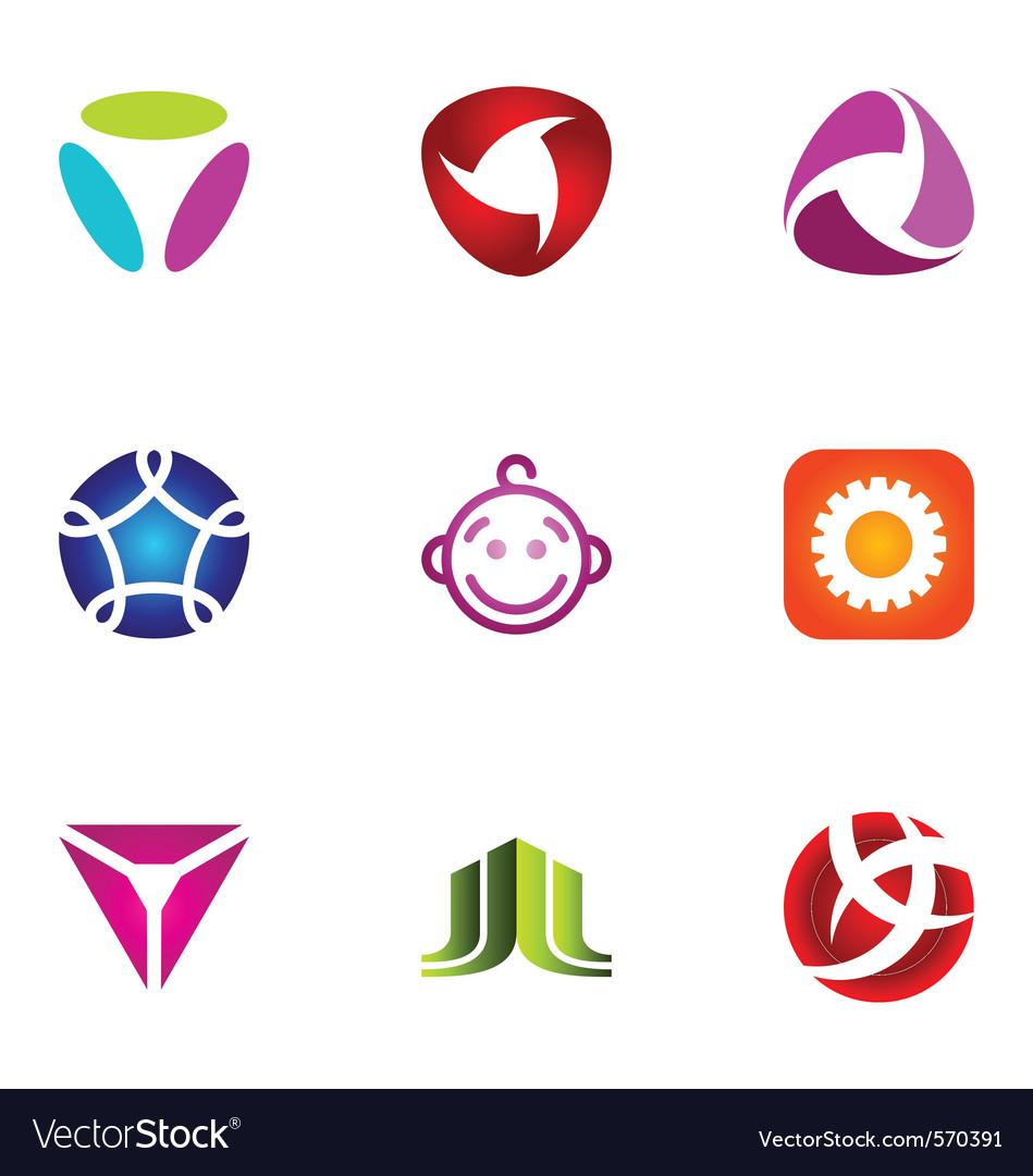 Logo design elements set 53 vector