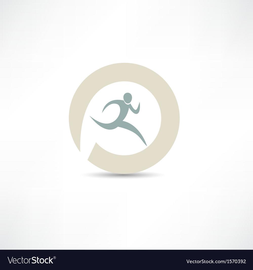 Runner icon vector
