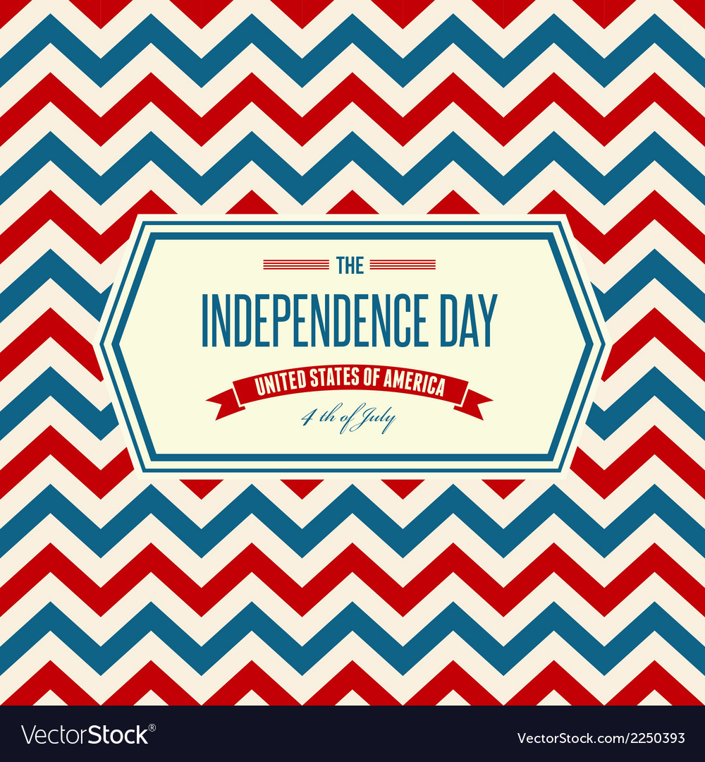 American independence day patriotic background vector