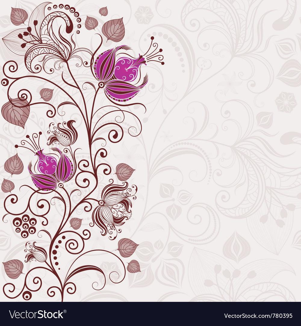 Gentle floral easter frame vector