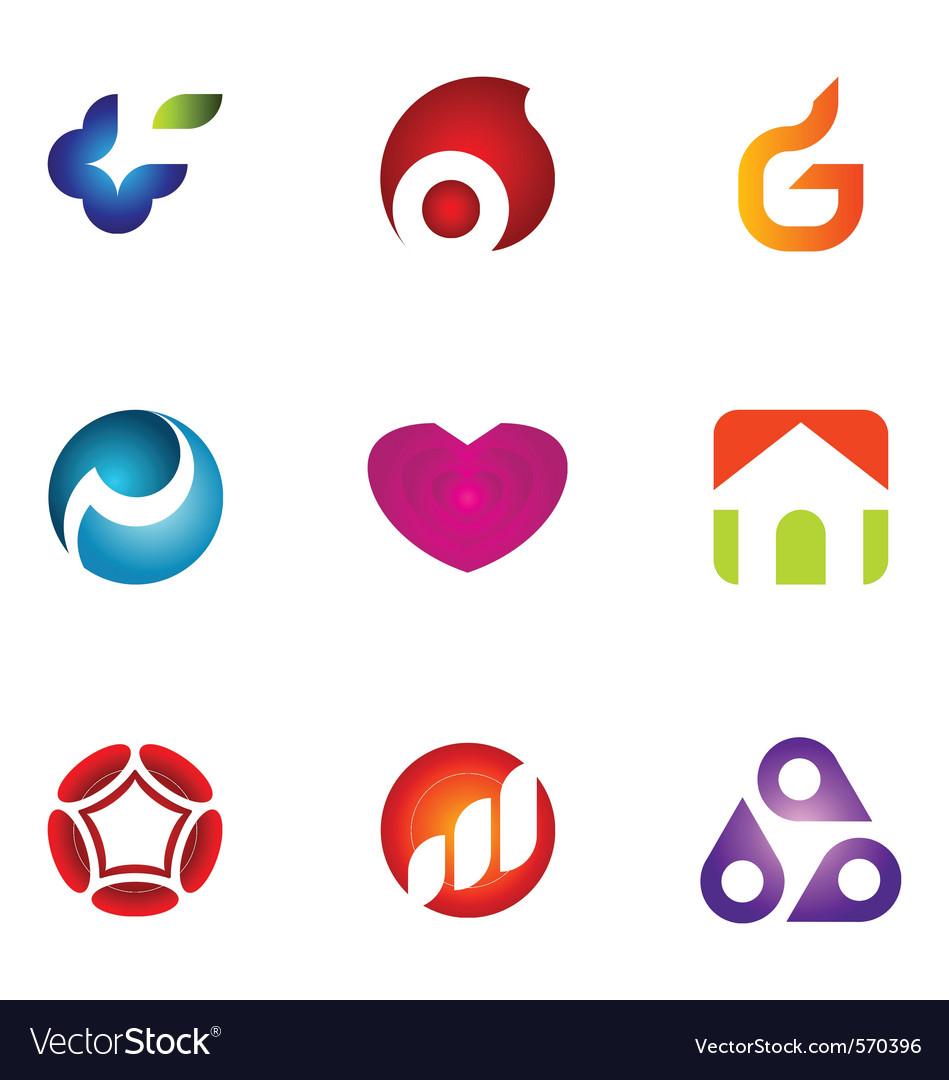 Logo design elements set 56 vector