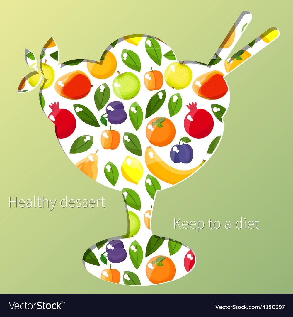 Healthy dessert vector
