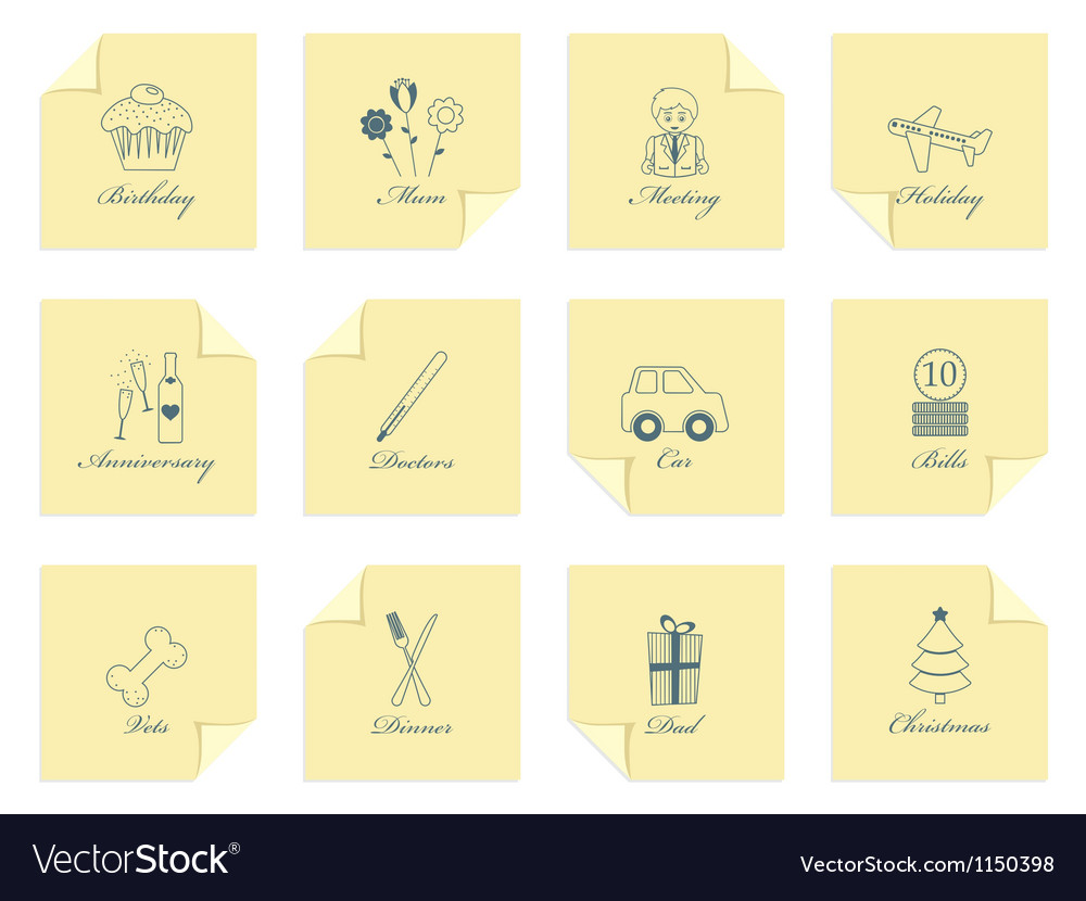 Appointment reminder notes vector