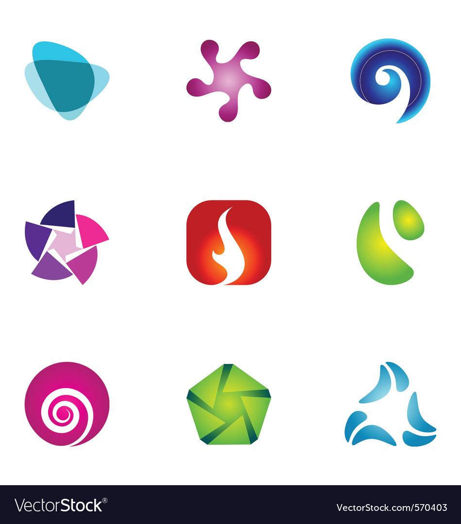 Logo design elements set 59 vector