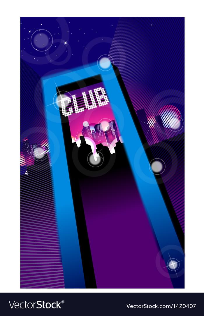 Club entrance vector