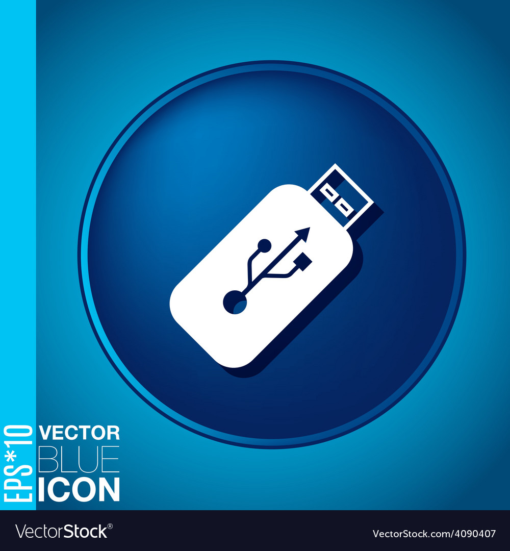 Usb flash icon disk vector