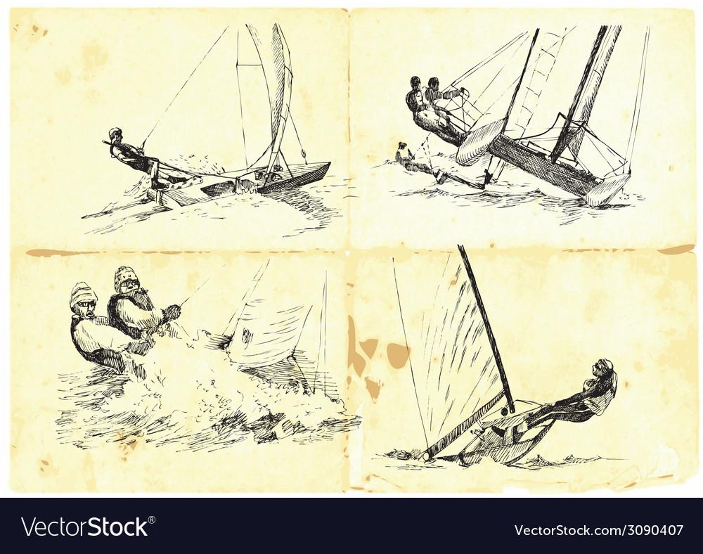 Yachting vector