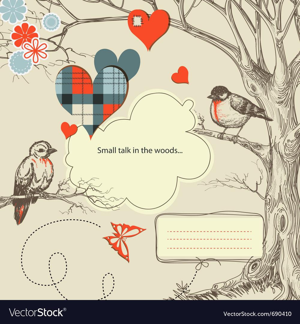 Love birds talk vector