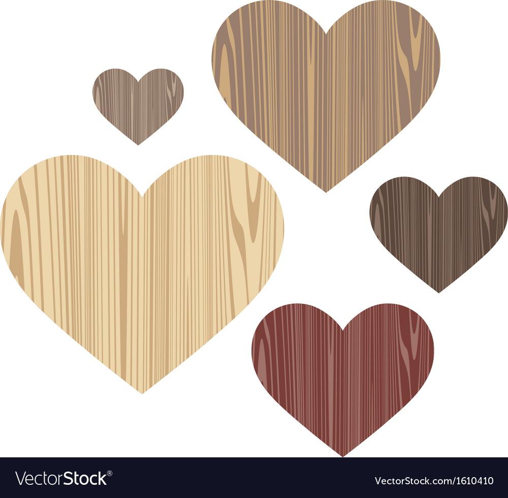 Unusual heart wood vector