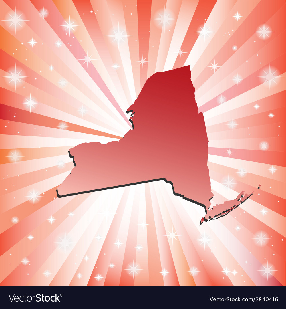 Red new york vector