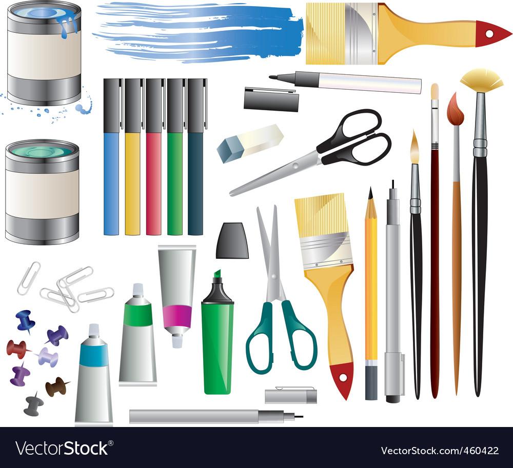 Paint accessories vector