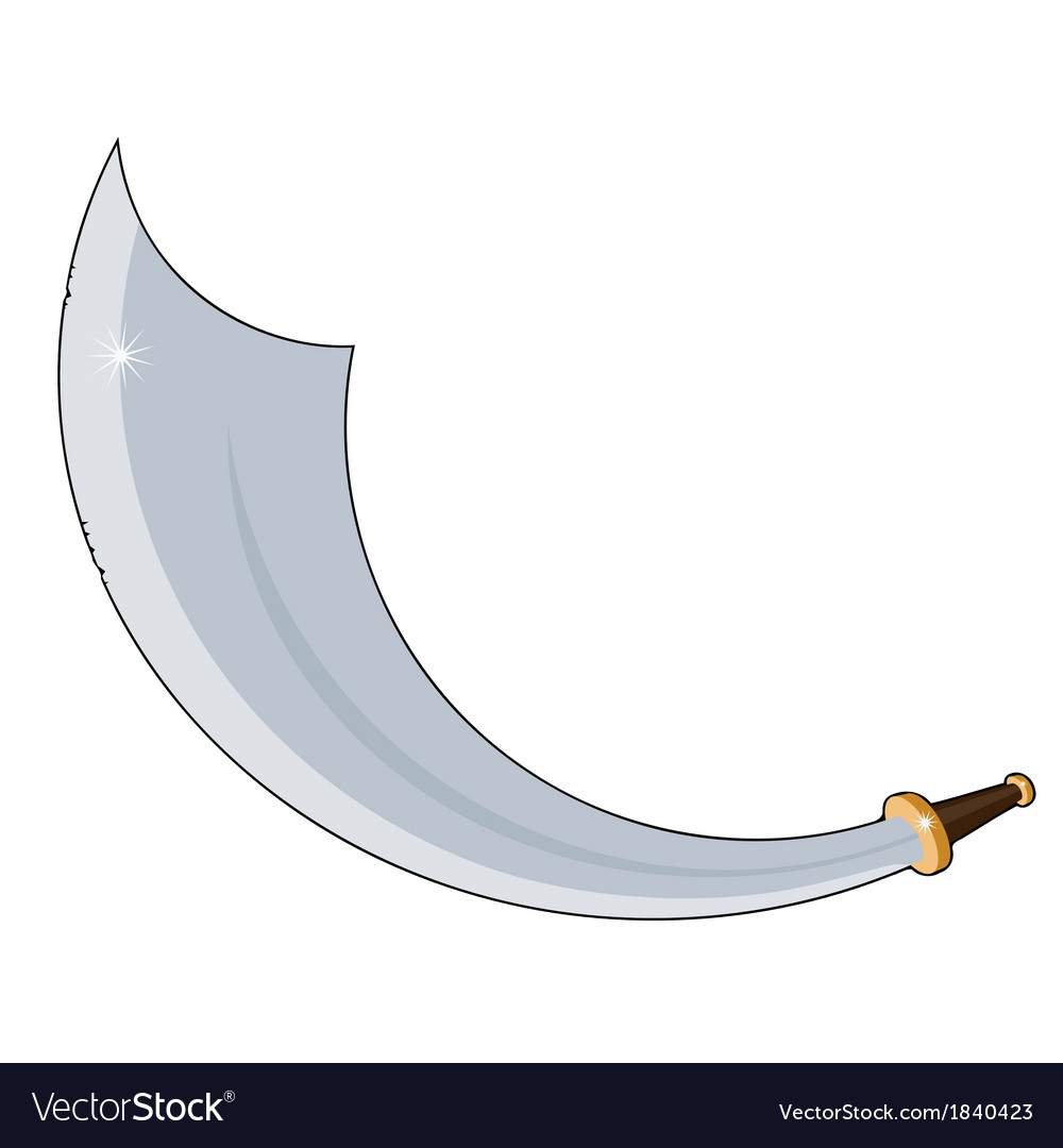 Pirate sword vector