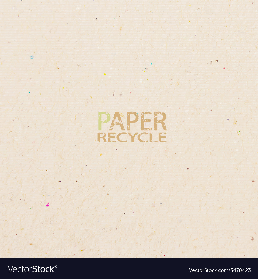 Recycled paper craft stick on white background vector