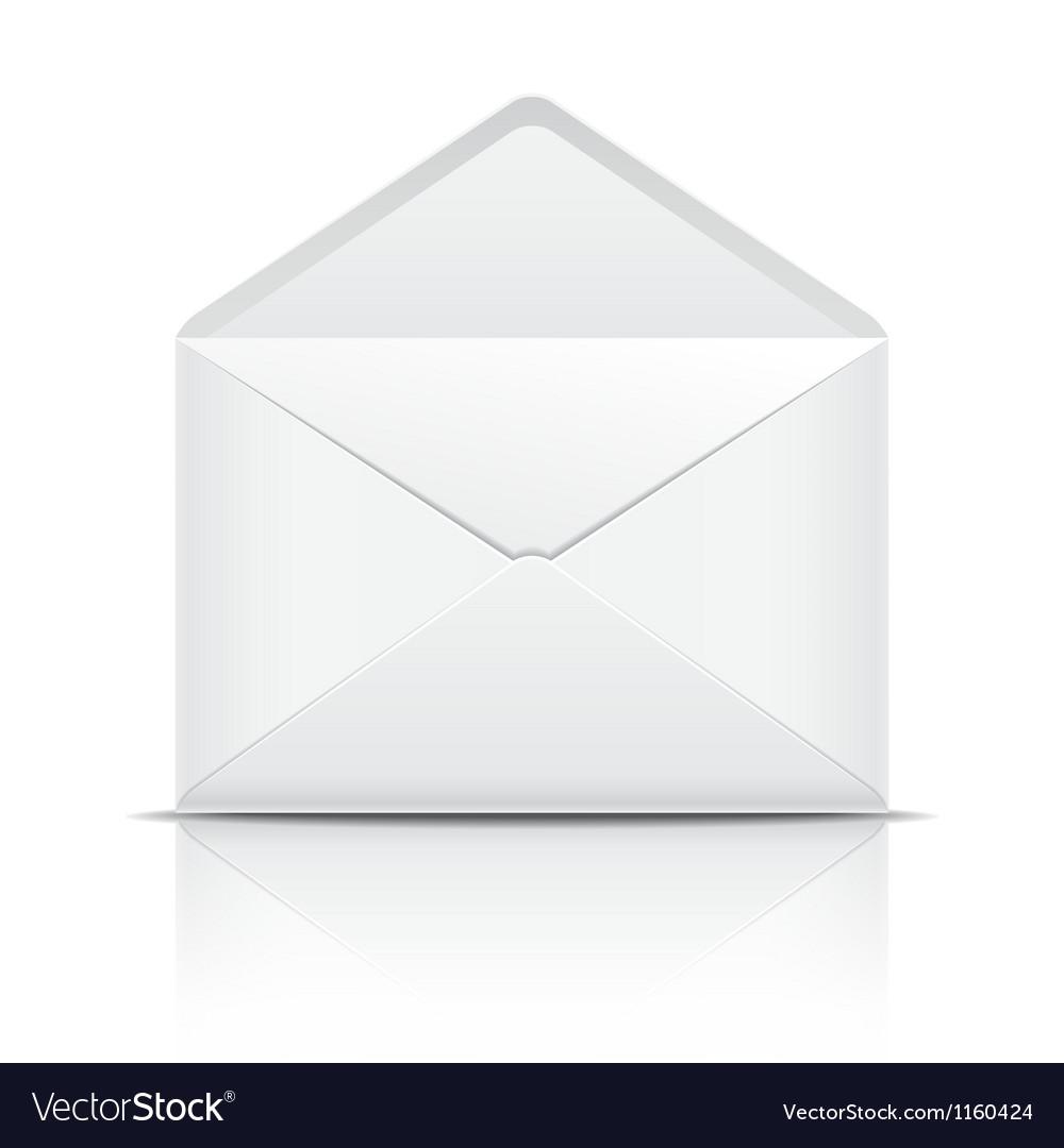 White open envelope vector