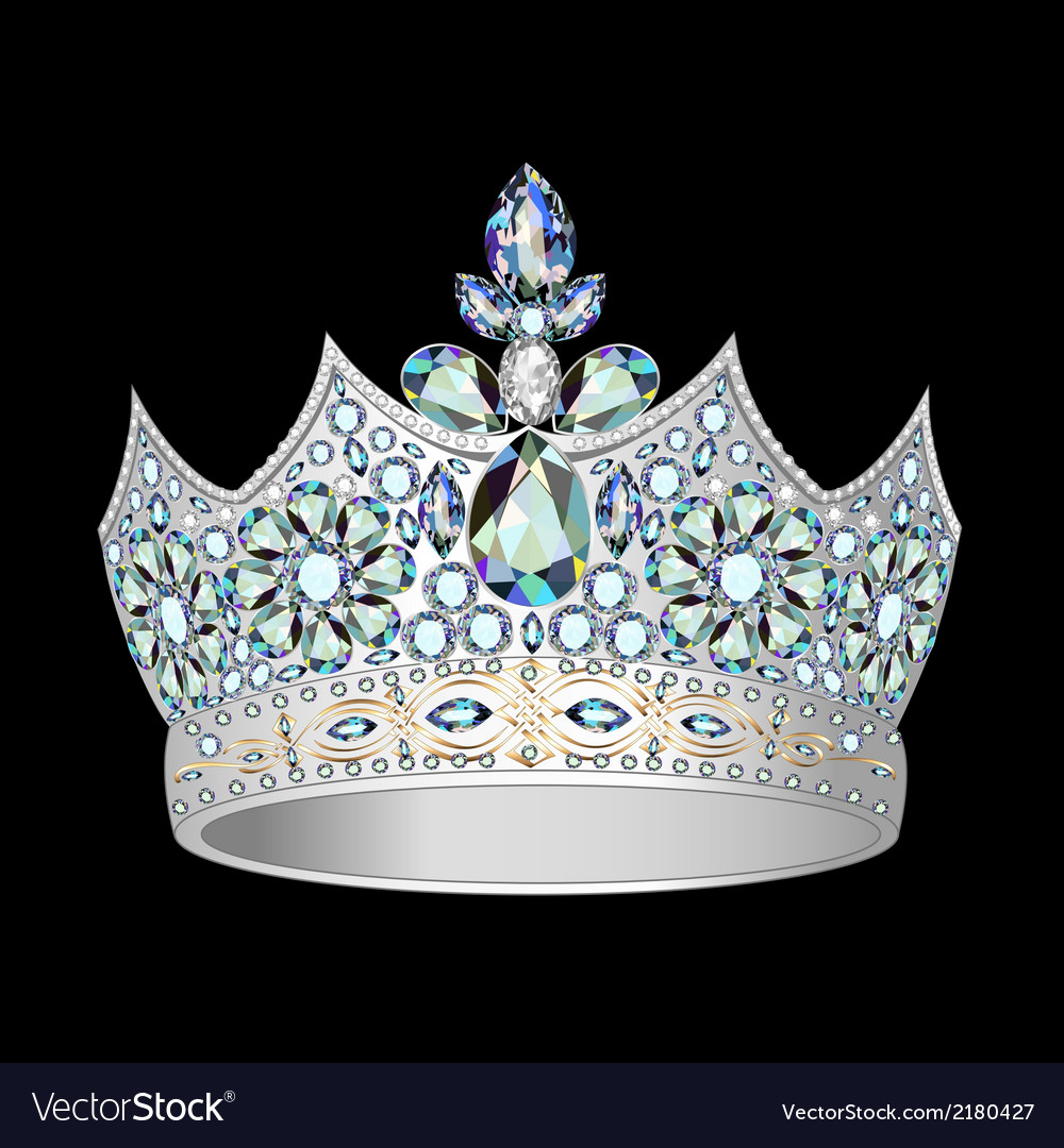 Decorative crown of silver vector