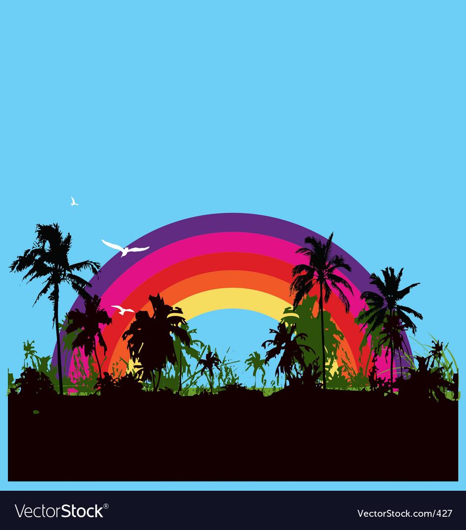 Tropical paradise vector