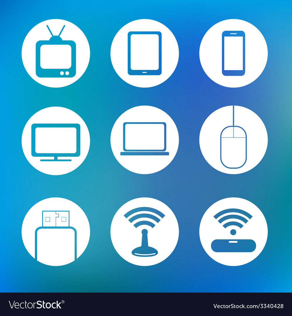 Icon device technology vector