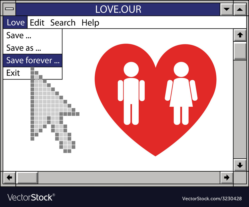 Our love save forever vector