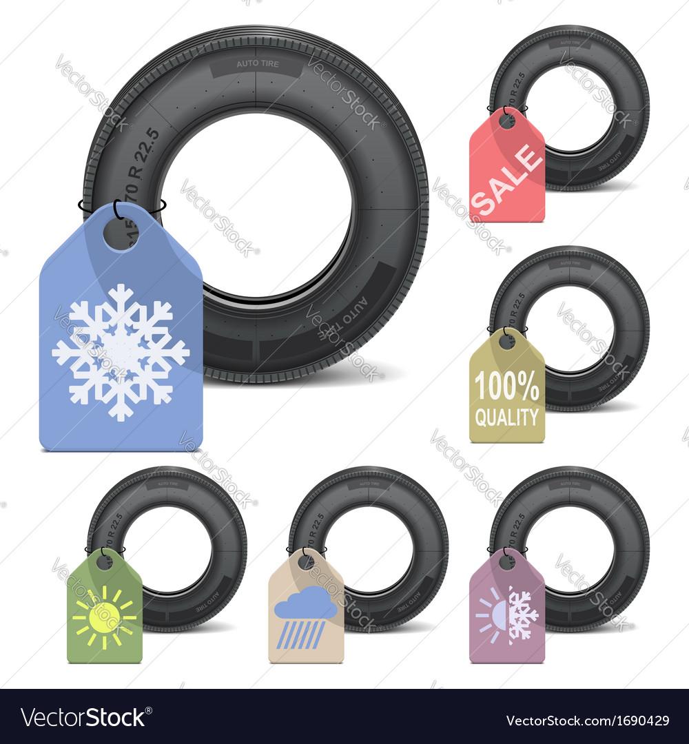 Season tire sale vector