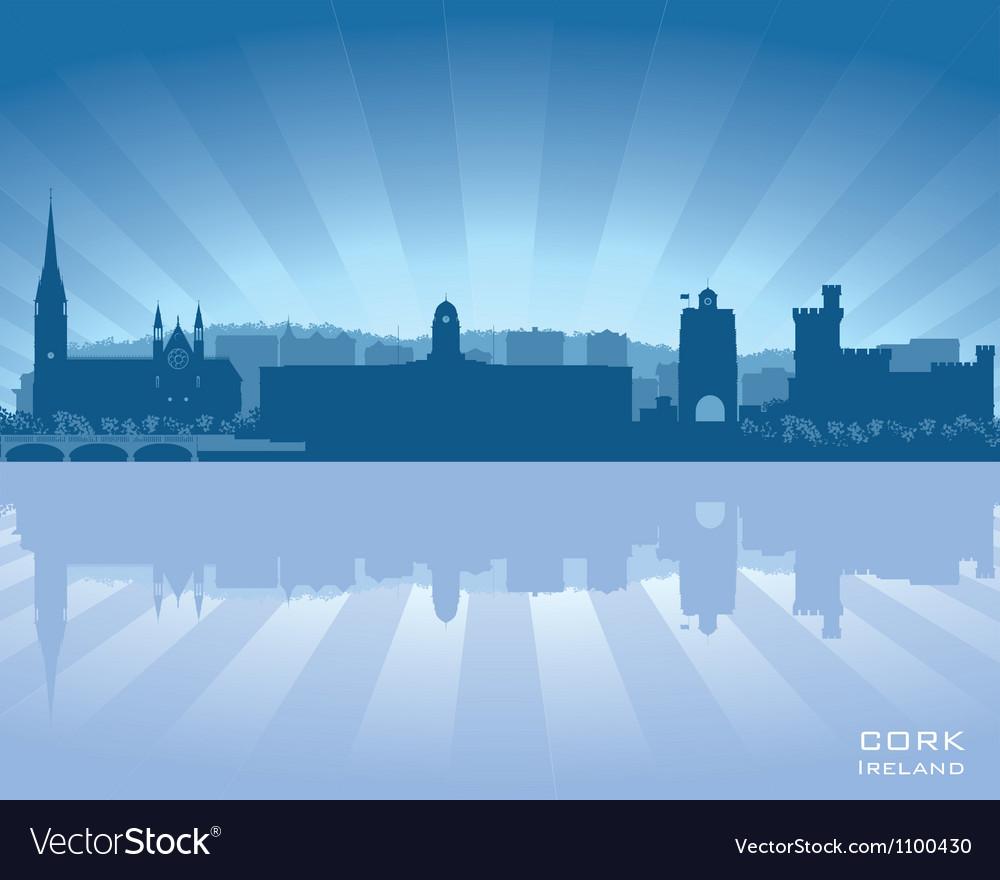 Cork ireland skyline vector