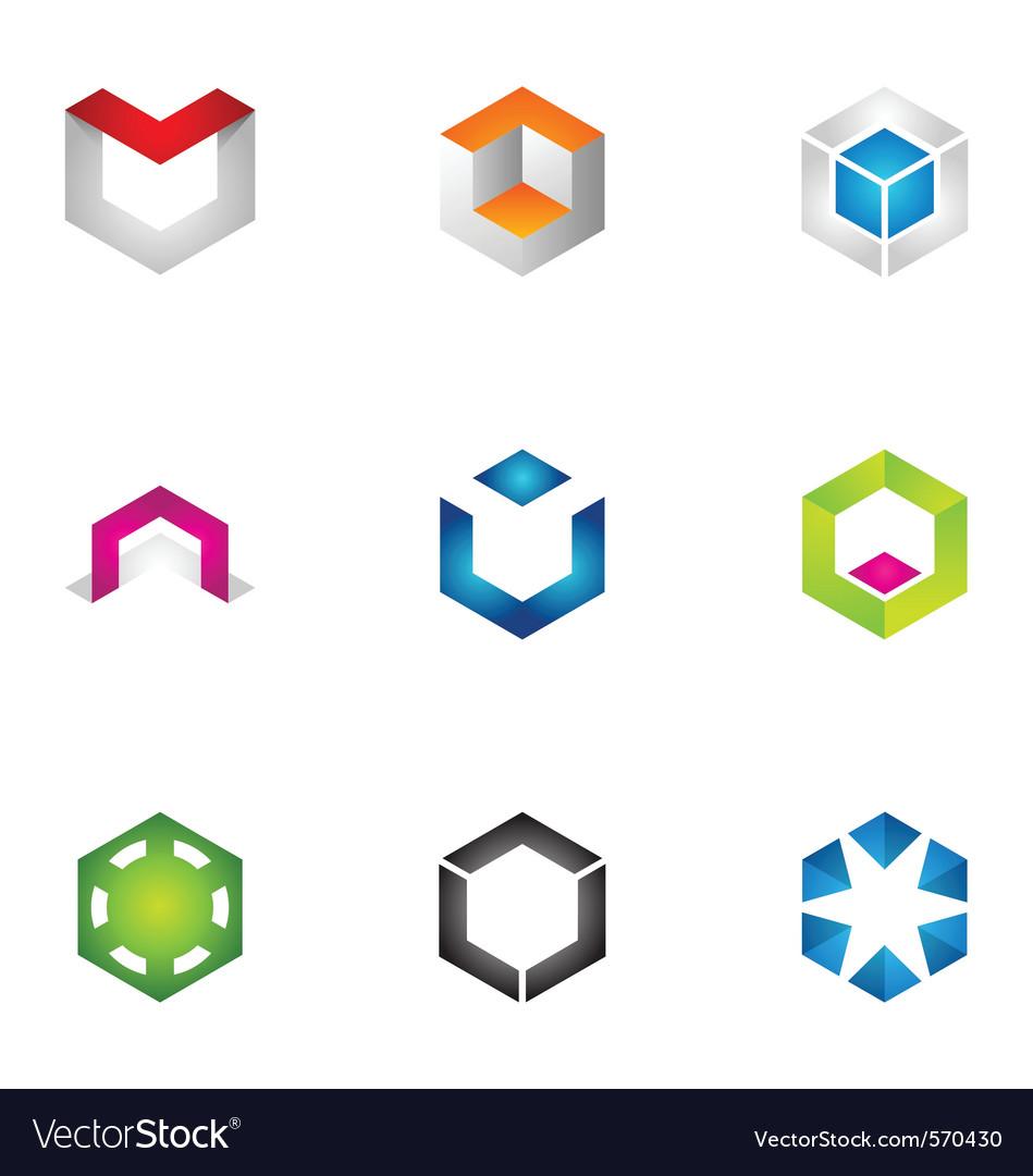 Logo design elements set 71 vector
