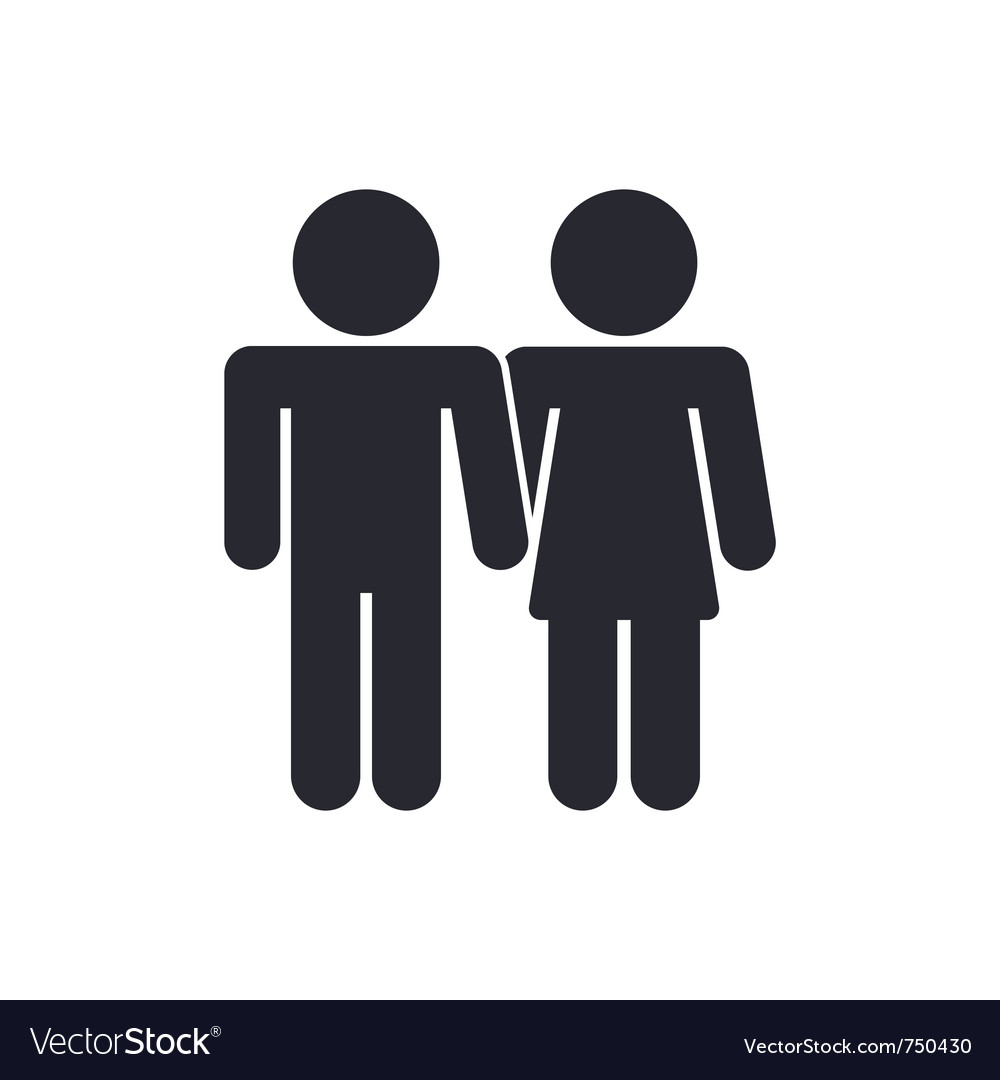 Lovers icon vector