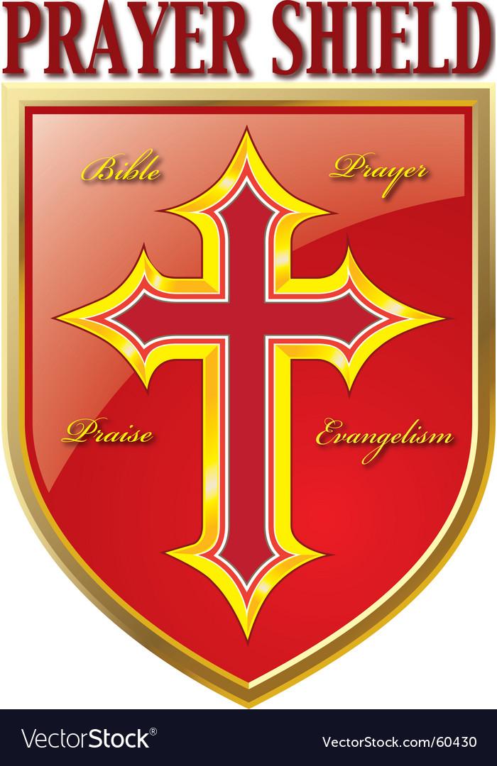 Prayer shield vector