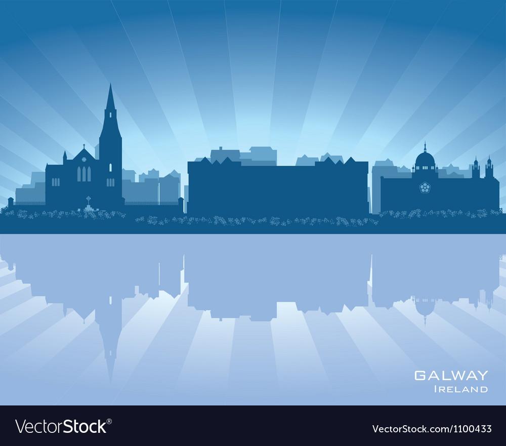 Galway ireland skyline vector
