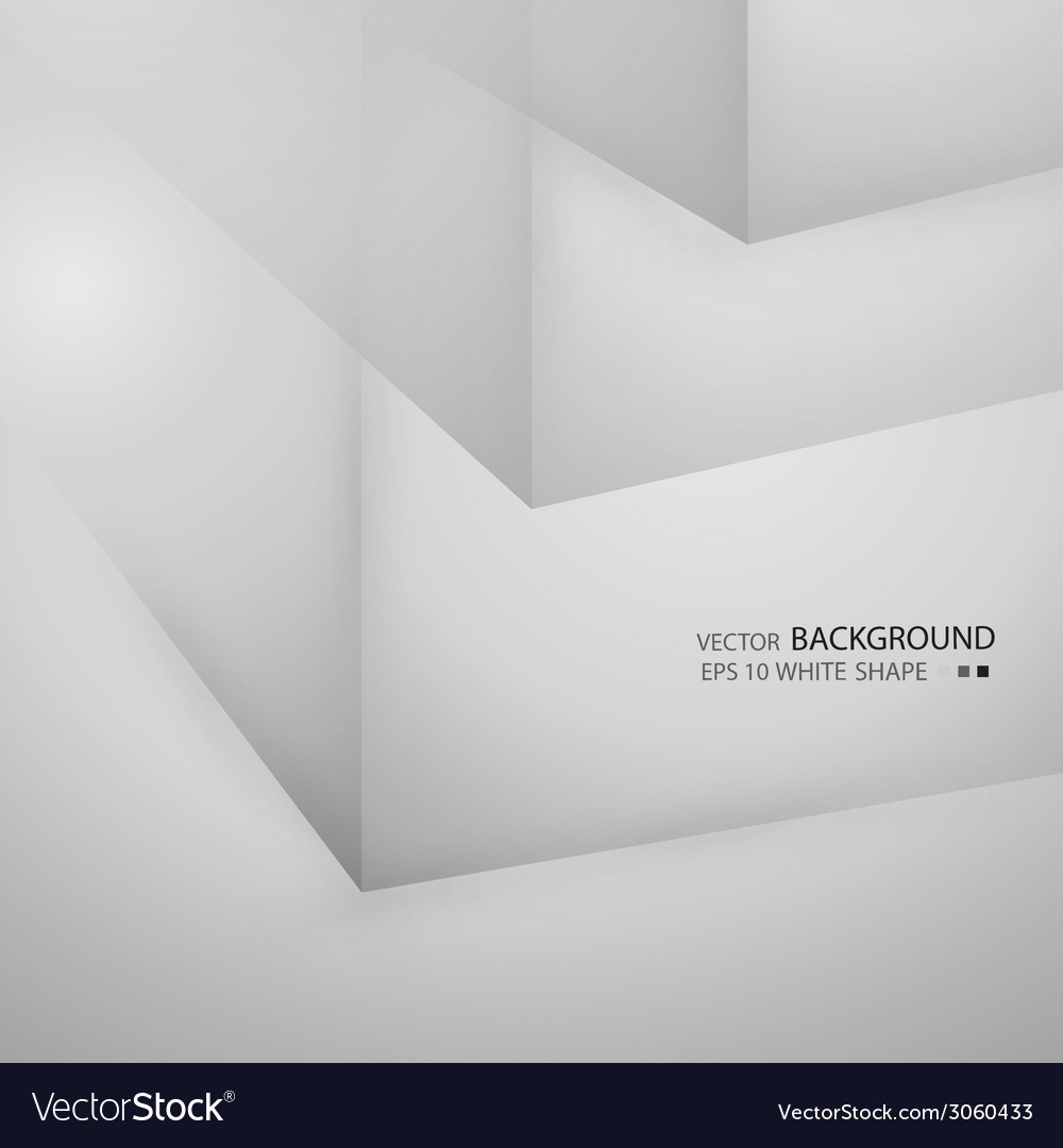 White cubes isolated on white backgroun vector