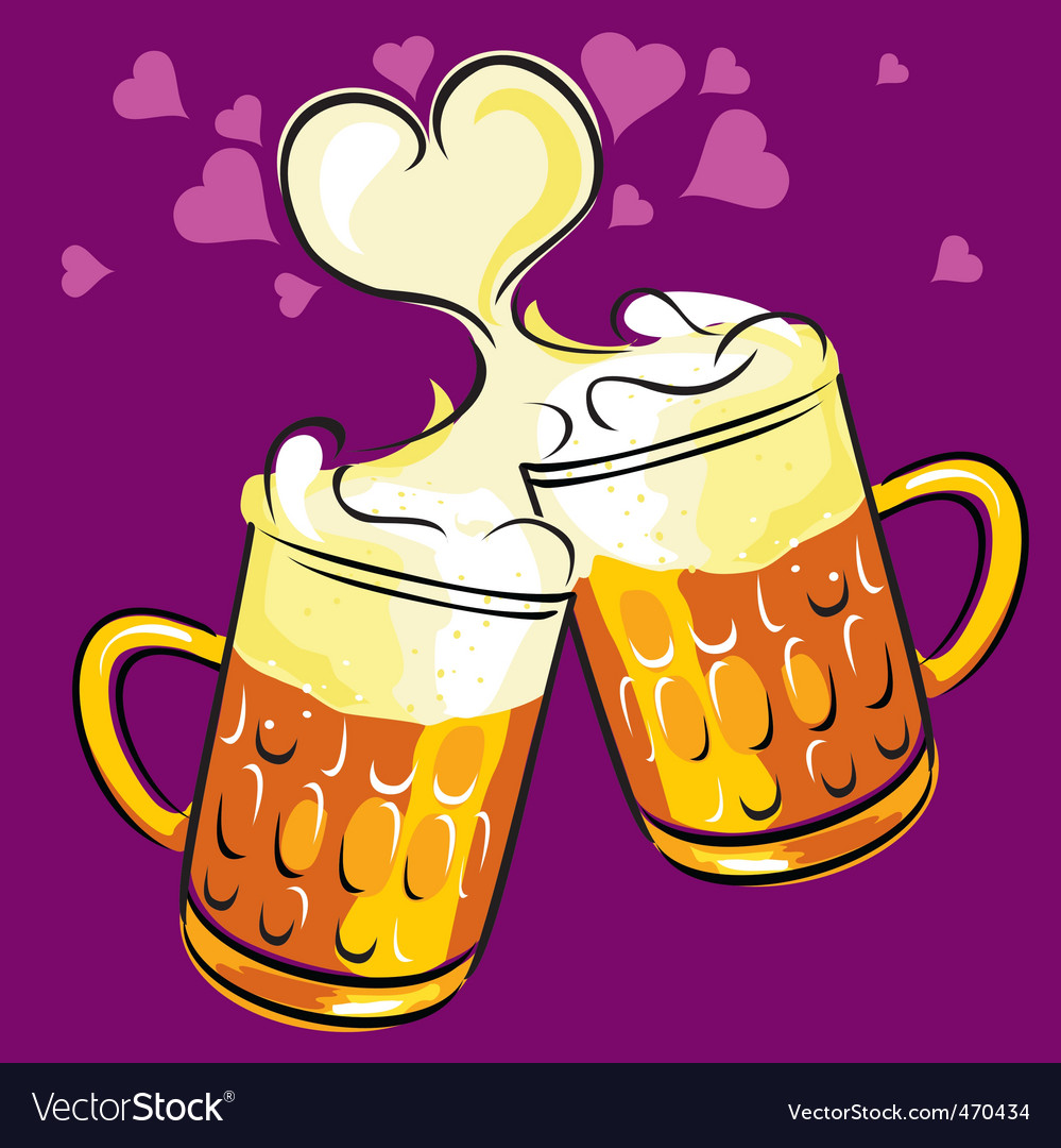 Beer love vector