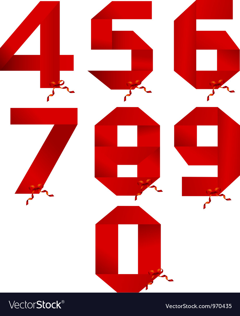 Ribbon numbers collection vector