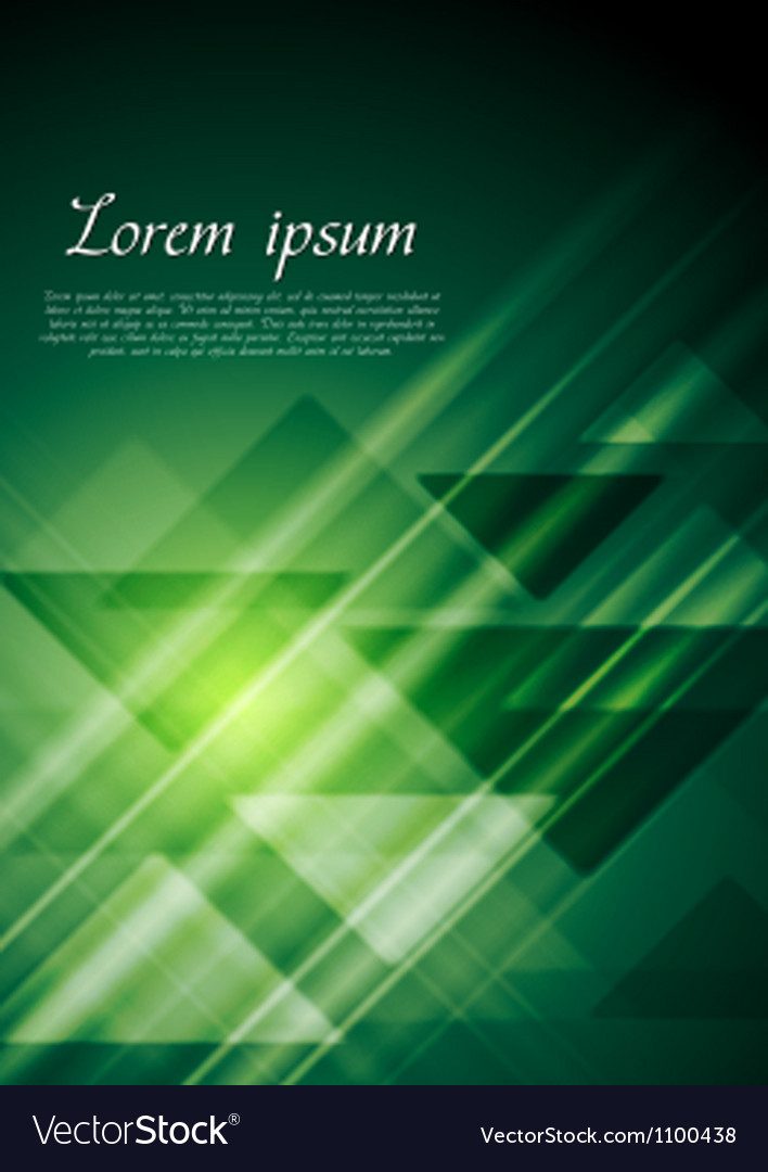 Bright green geometrical background vector