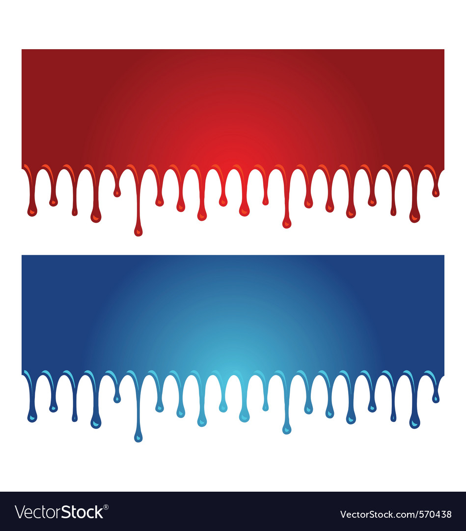 Paint dripping vector