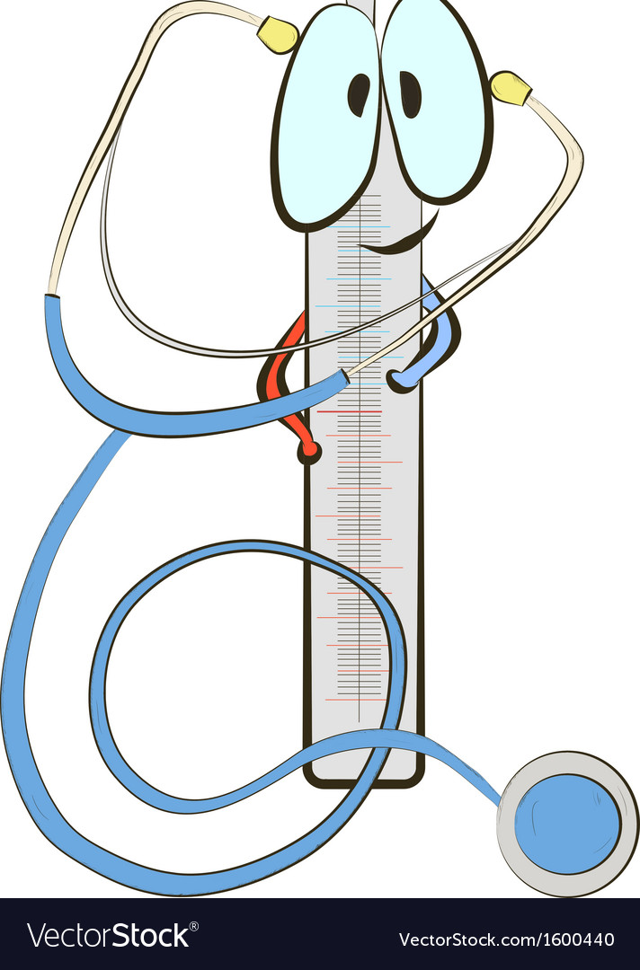 Stethoscope and thermometer vector