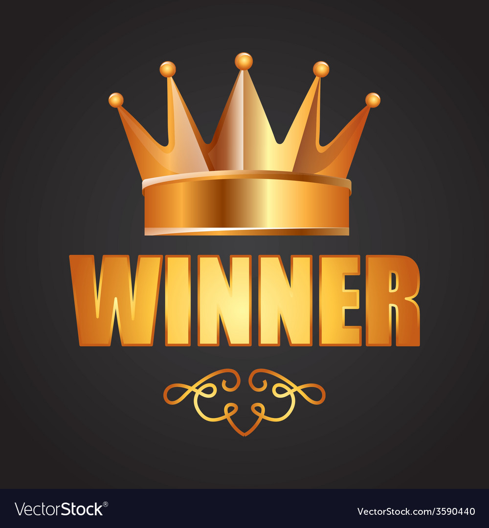 Winner icon vector