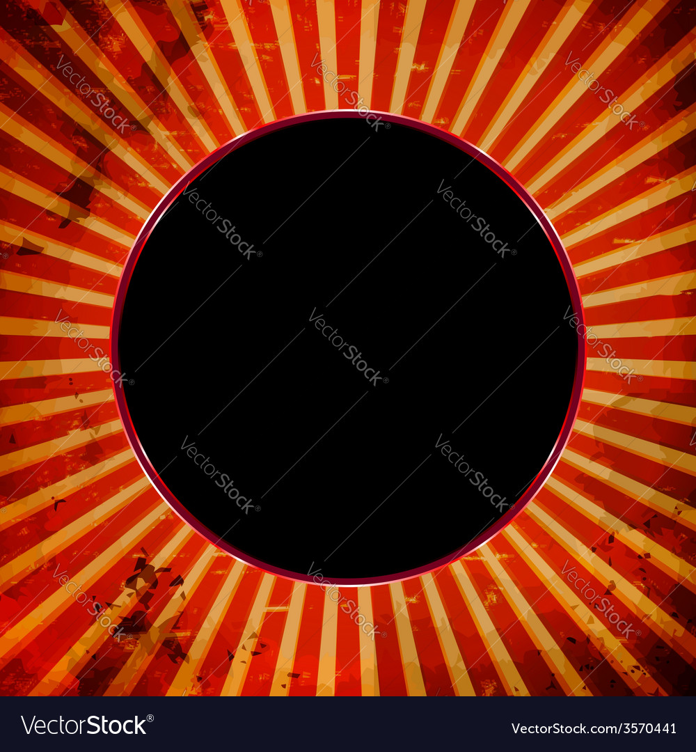 Dark ball frame vector