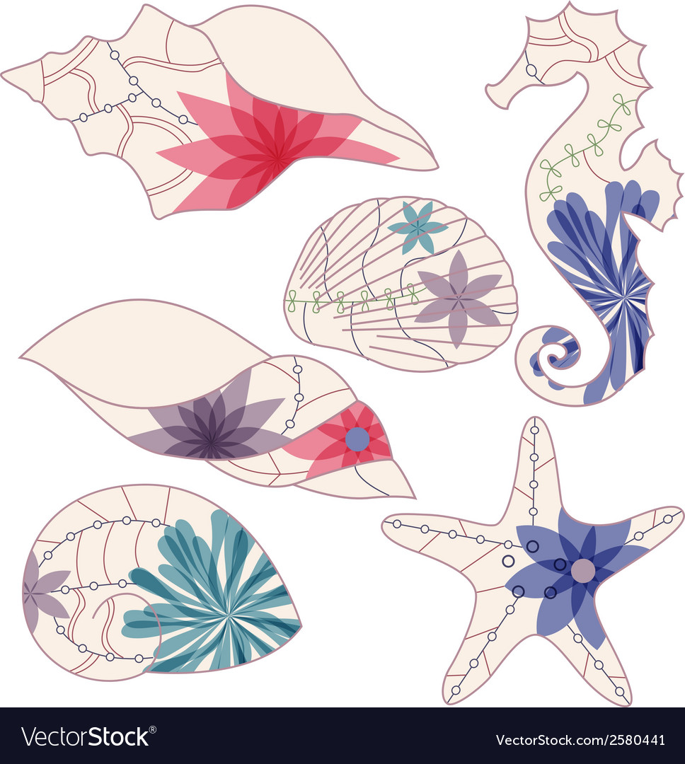 Marine elements 2 vector