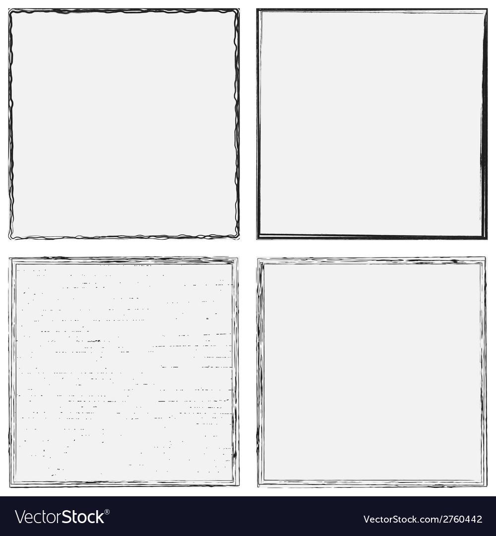Grunge frame set vector