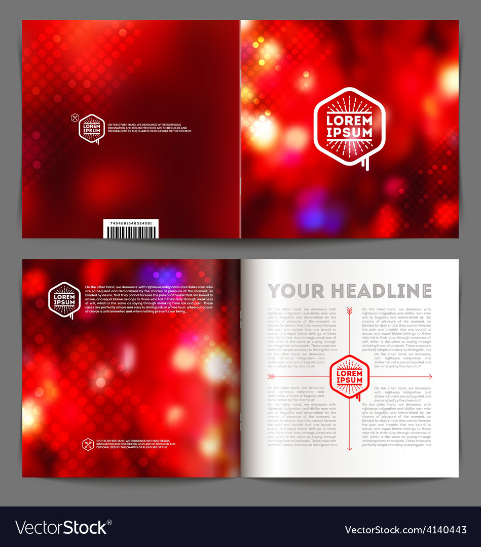 Abstract template booklet design vector