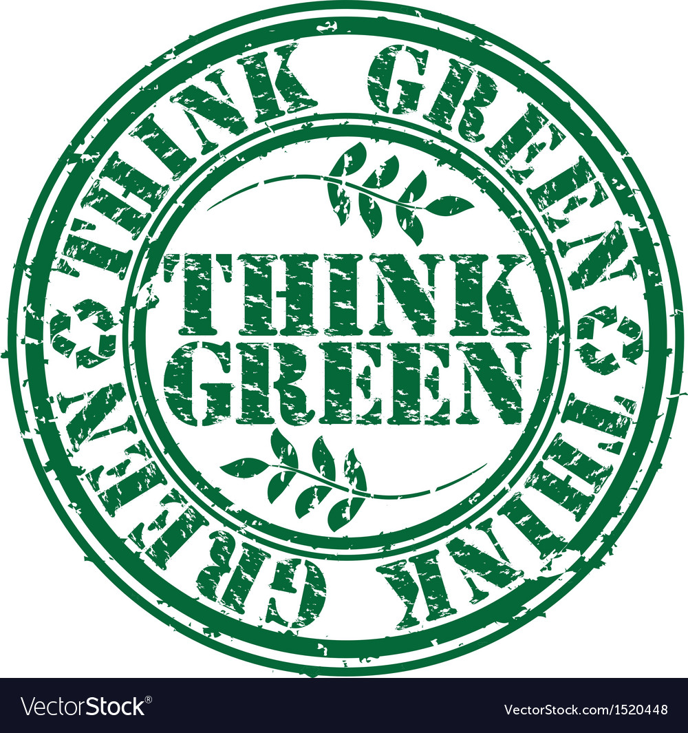 Grunge think green rubber stamp vector