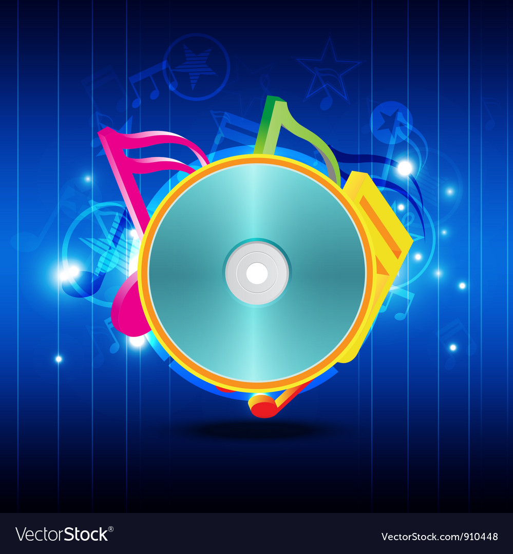 Music disk with festival background vector