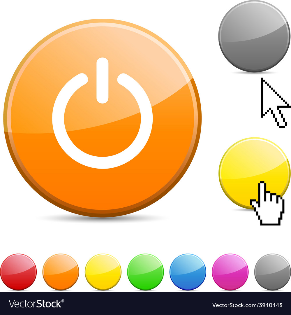 Switch glossy button vector