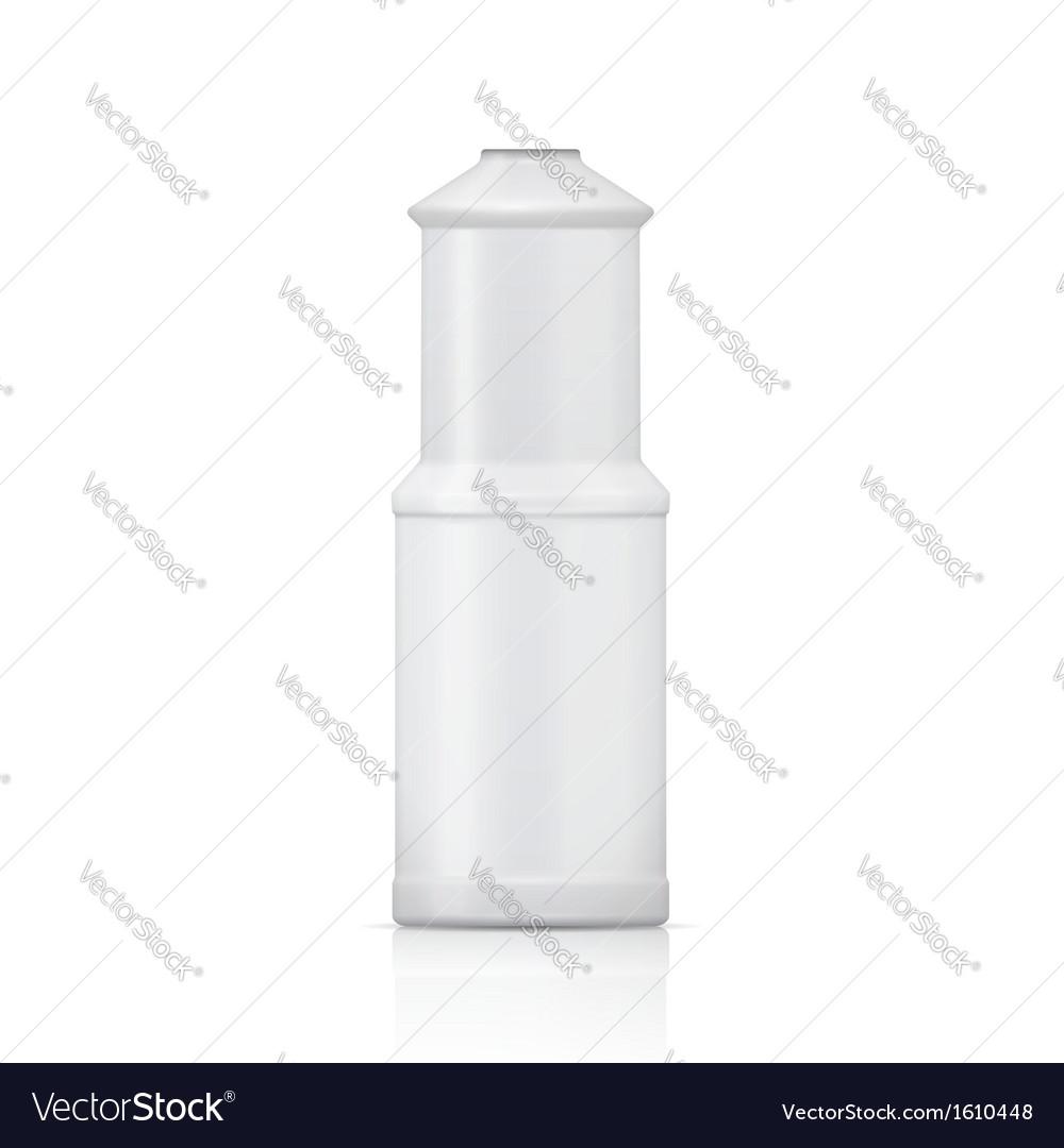 White bleach bottle vector